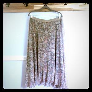 Anthropologie Maeve Glimmer Skirt XL